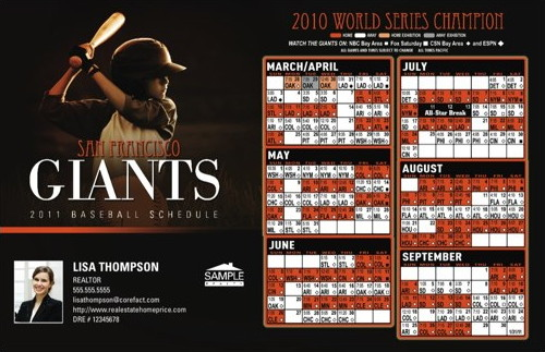2011 baseball schedules and personalized real estate marketing