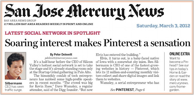 San Jose Mercury News 2012.03.03 front page news